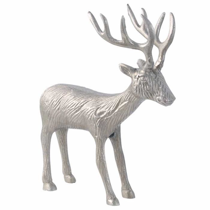 statue renne de no l en aluminium objet de d coration achat vente jet e de lit boutis. Black Bedroom Furniture Sets. Home Design Ideas