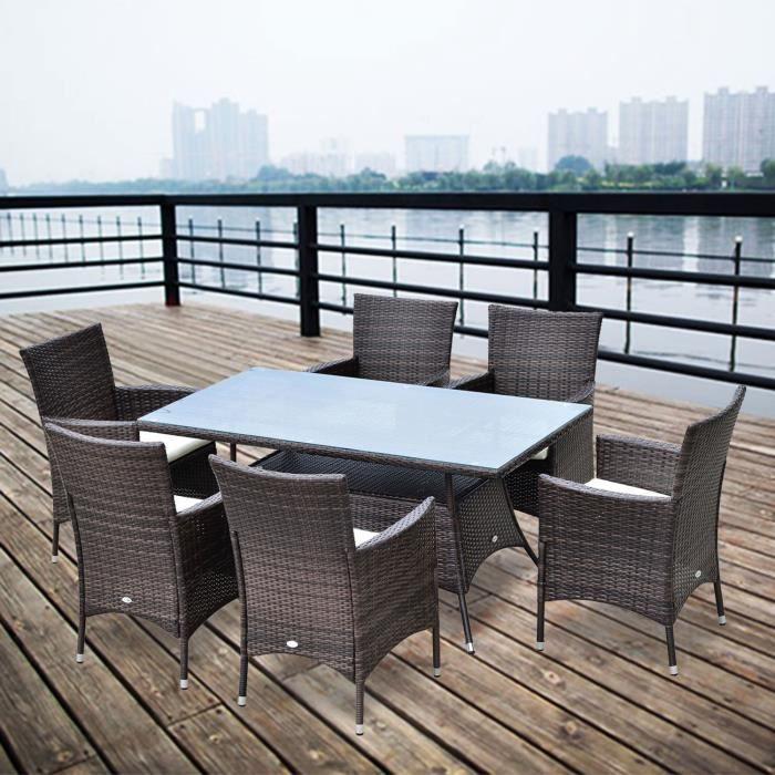 ensemble complet salon de jardin 6 fauteuils 1 tab achat vente salon de jardin ensemble. Black Bedroom Furniture Sets. Home Design Ideas