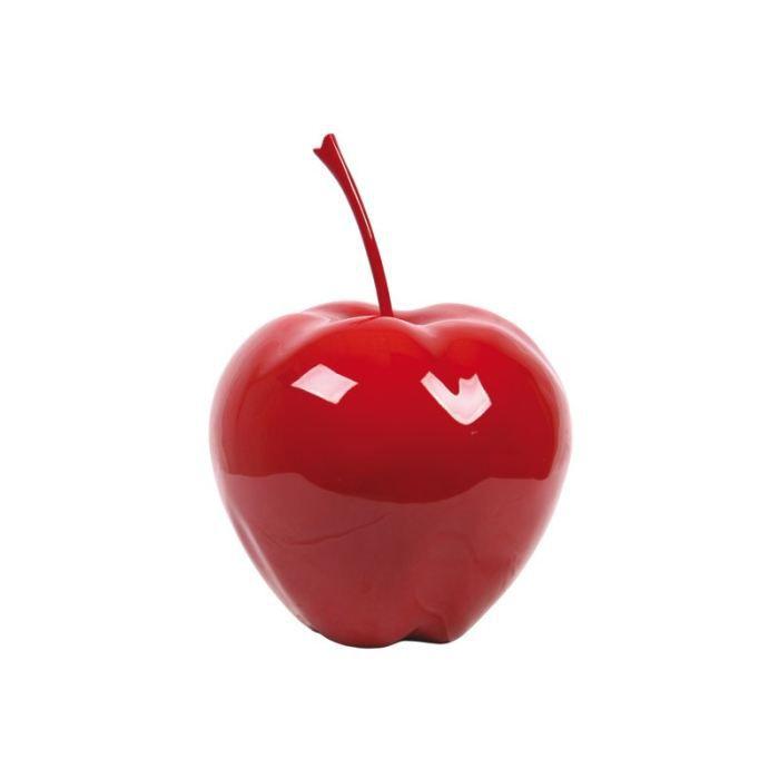 Pomme en resine taille m rouge achat vente statue for Objet deco rouge cuisine