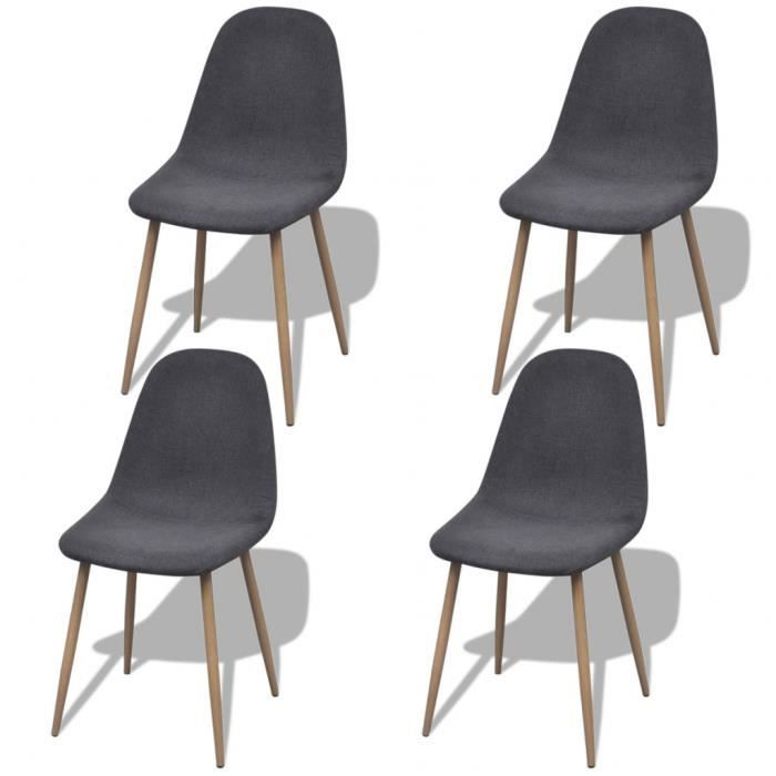 4pcs chaises en tissu rembourr s et pieds en fer pour for 4 pieds 4 chaises givors