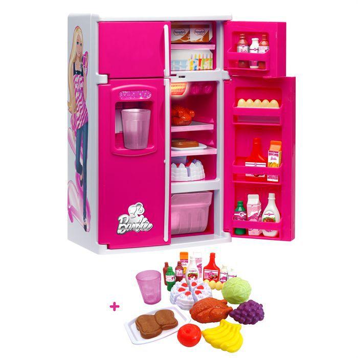 barbie r frig rateur avec fonctions et aliments achat vente dinette cuisine cdiscount. Black Bedroom Furniture Sets. Home Design Ideas