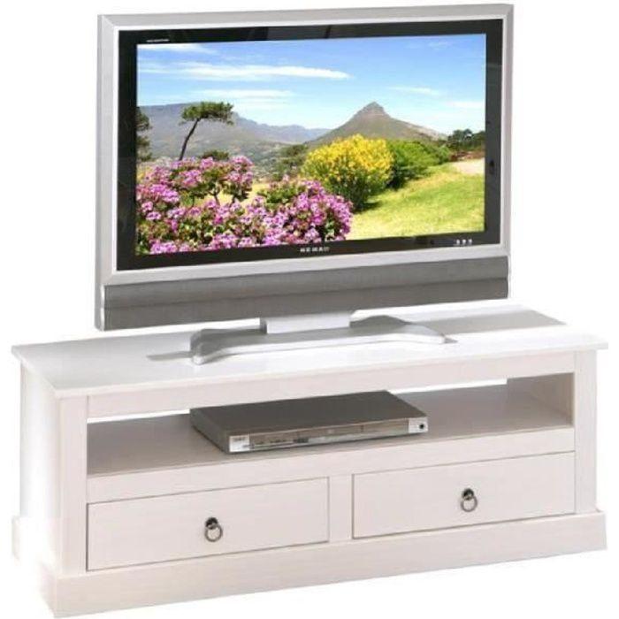 Paris prix meuble tv abigael blanc achat vente for Prix meuble tv