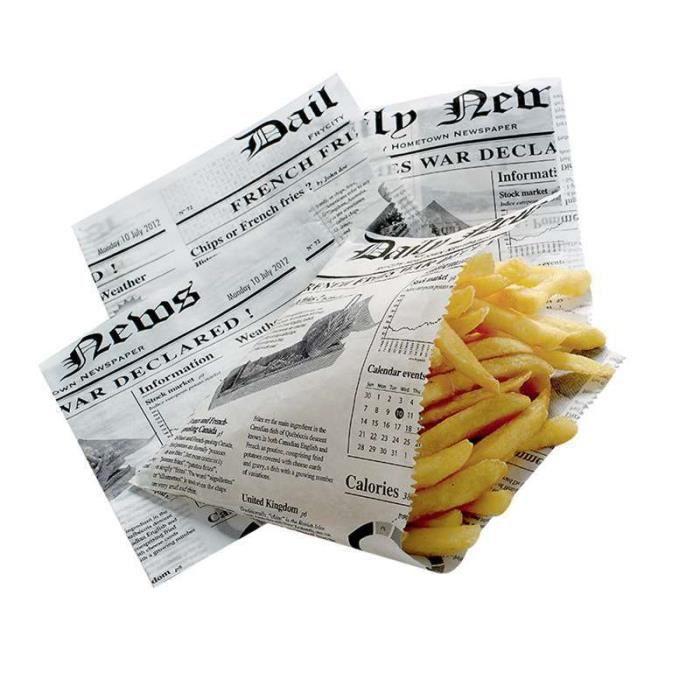 cornets alimentaire papier journal 13x13cm x 1000 achat vente d cors de table cdiscount. Black Bedroom Furniture Sets. Home Design Ideas