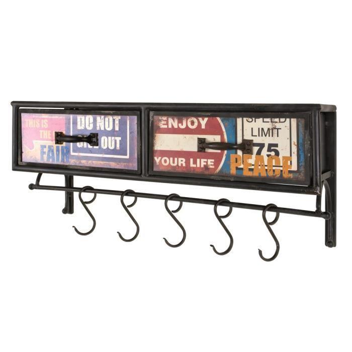 porte manteaux 2 tiroirs nils vintage achat vente. Black Bedroom Furniture Sets. Home Design Ideas