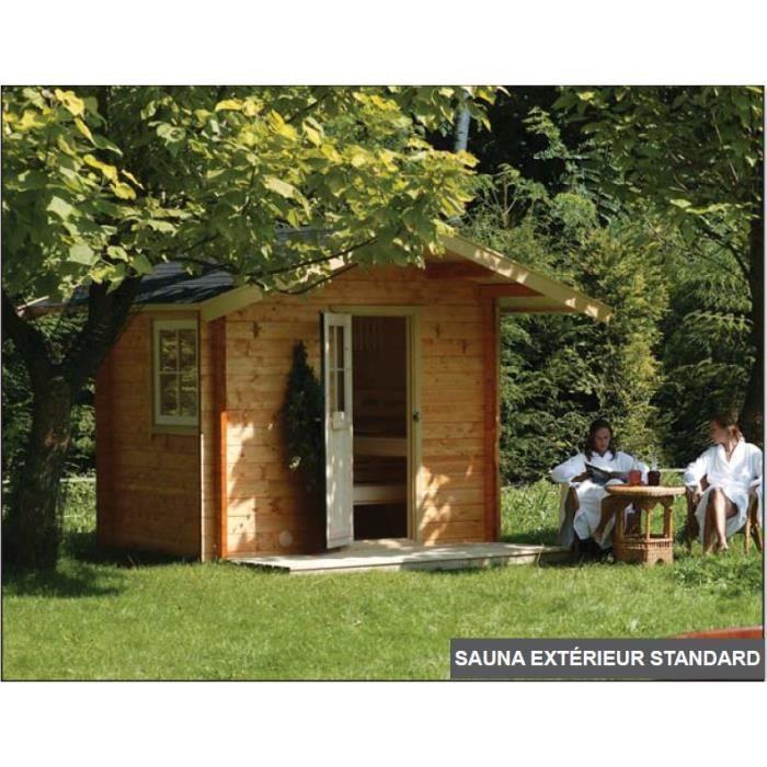 Sauna exterieur strandard toit a batiere sag901z achat for Kit sauna exterieur