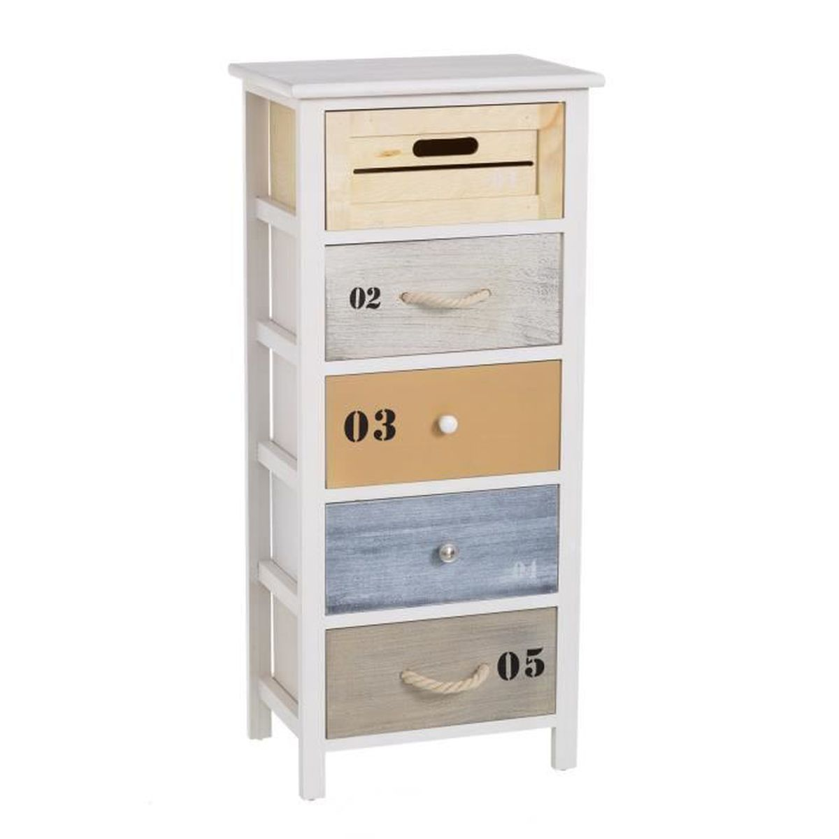 Meuble 5 tiroirs summer collection casaseleccion achat for Meuble 5 tiroirs