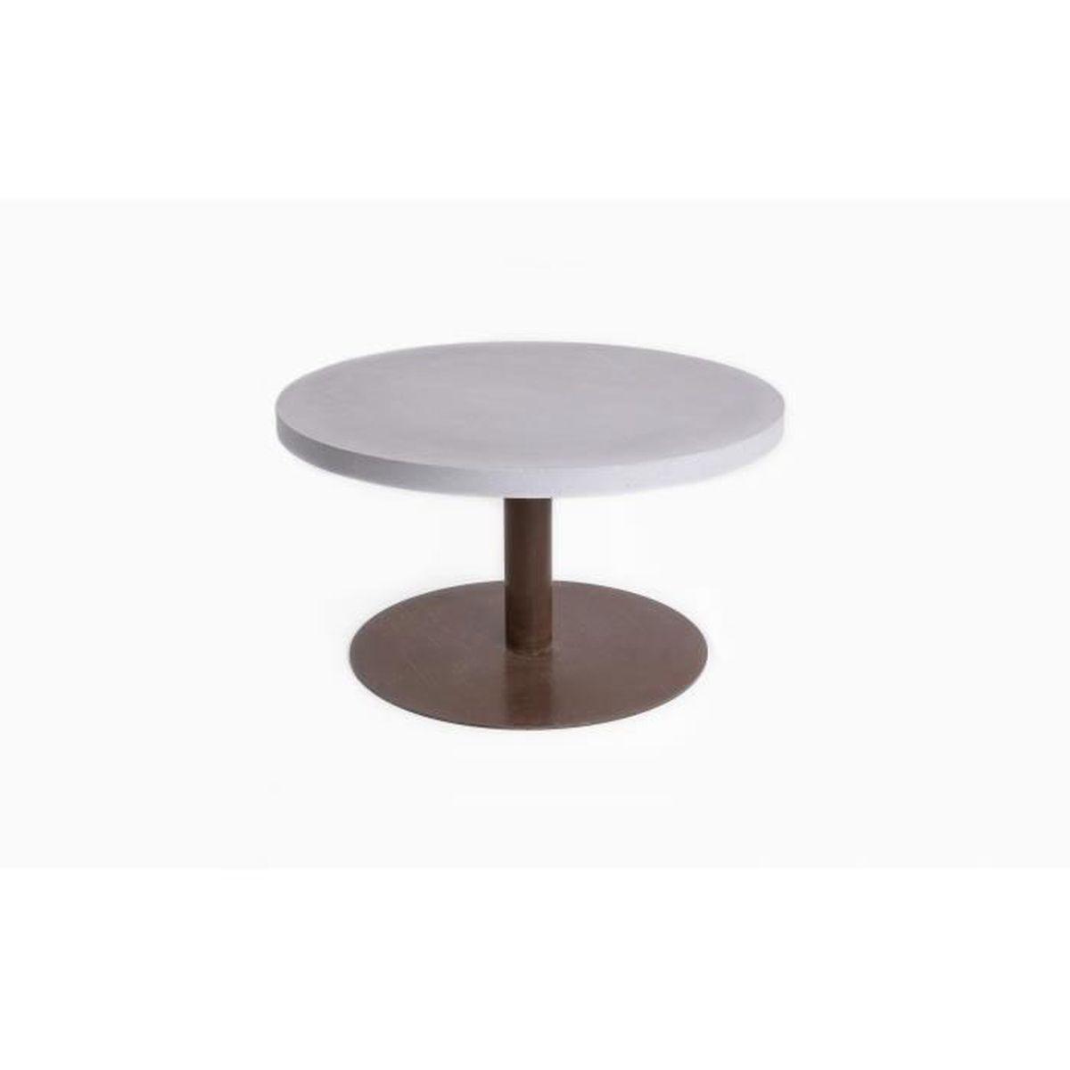 Table de lounge forme ronde achat vente table basse table de lounge forme - Table ronde cdiscount ...