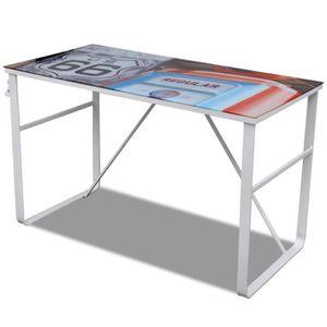 bureau plateau verre achat vente bureau plateau verre pas cher les soldes sur cdiscount. Black Bedroom Furniture Sets. Home Design Ideas