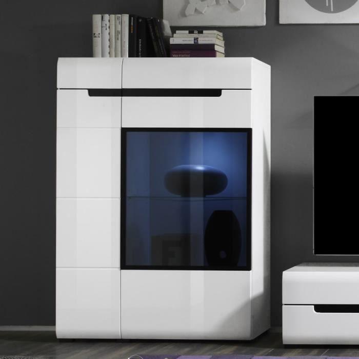 Vaisselier blanc laqu avec led en option design orfa sans led achat vent - Vaisselier blanc laque ...