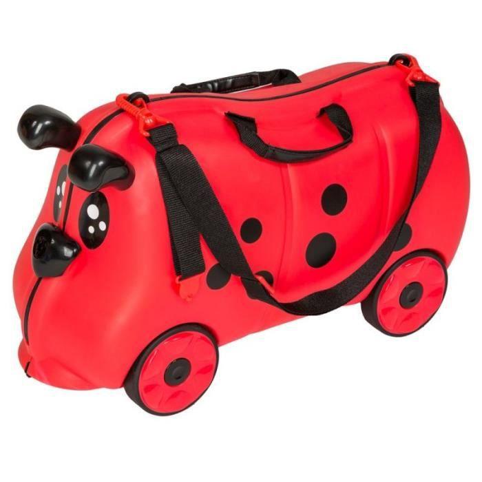 valise wagon voiture roulettes pour enfants rouge 0108009 achat vente sac de voyage. Black Bedroom Furniture Sets. Home Design Ideas