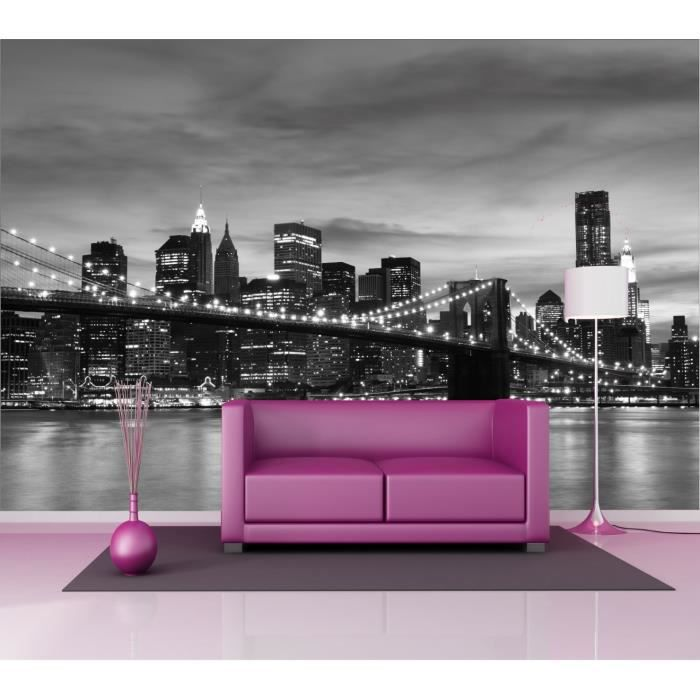 Stickers muraux g ant d co new york manhattan dimensions for Sticker mural new york