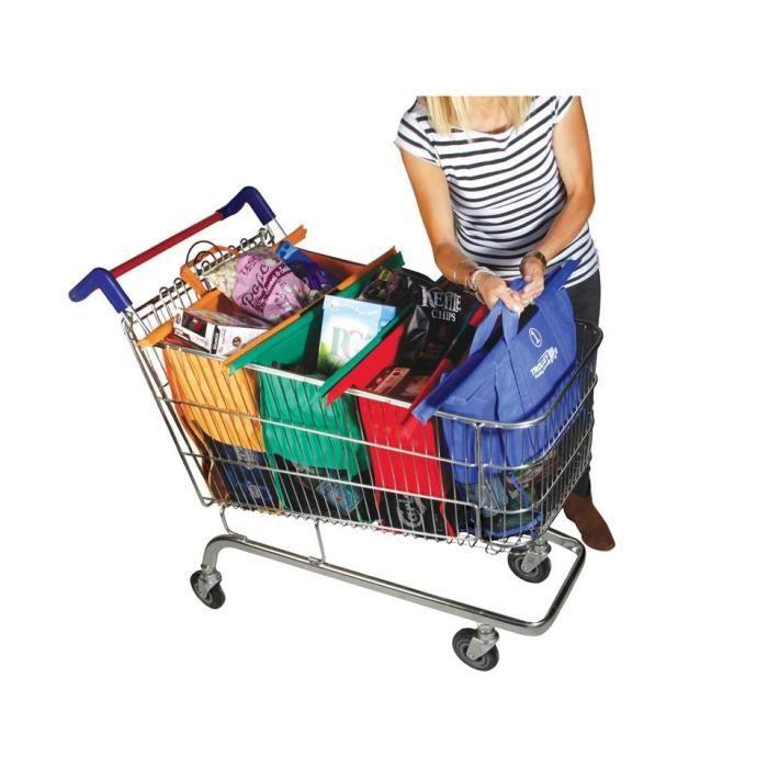 4 sacs courses commissions avec poign es renforc es. Black Bedroom Furniture Sets. Home Design Ideas