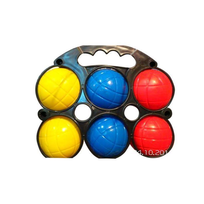 mgm jeu de p tanque enfant en plastique 6 boules avec un. Black Bedroom Furniture Sets. Home Design Ideas