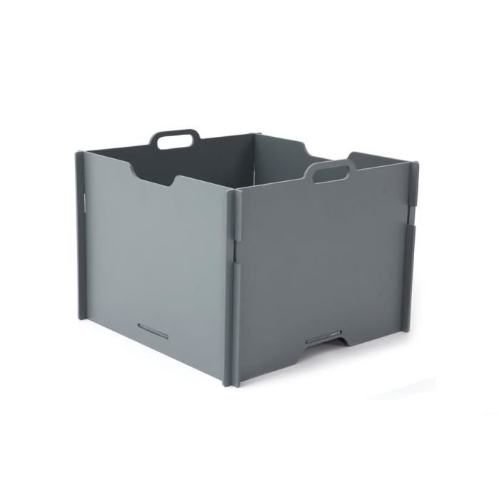 Miliboo boite de rangement design empilable g achat - Boite de rangement empilable ...
