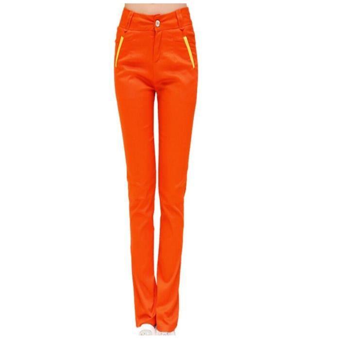 pantalon slim pour femme orange orange achat vente pantalon cadeaux de no l cdiscount. Black Bedroom Furniture Sets. Home Design Ideas