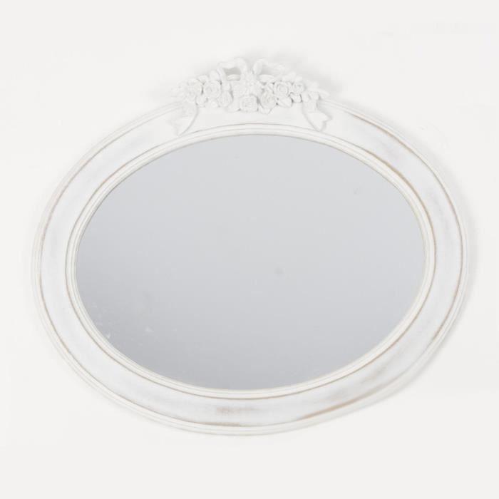 miroir charme moulures blanc paris prix achat vente miroir salle de bain cdiscount. Black Bedroom Furniture Sets. Home Design Ideas