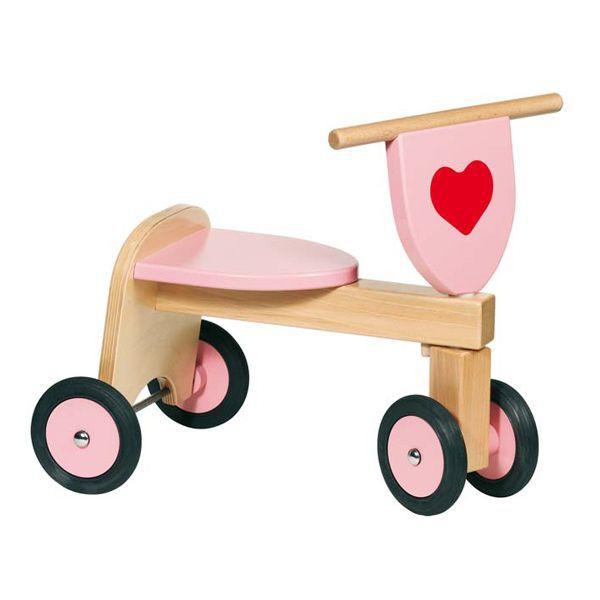 trotteur en bois coloris rose rose achat vente youpala trotteur 4013594559546 cdiscount. Black Bedroom Furniture Sets. Home Design Ideas