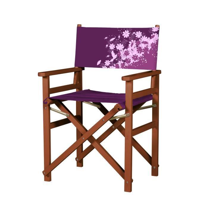 fauteuil metteur en sc ne pliable violet rose achat vente fauteuil m tal polyester. Black Bedroom Furniture Sets. Home Design Ideas