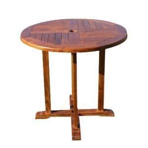 Sun d koh table ronde en teck massif 80 x 80 cm achat for Table en teck ronde