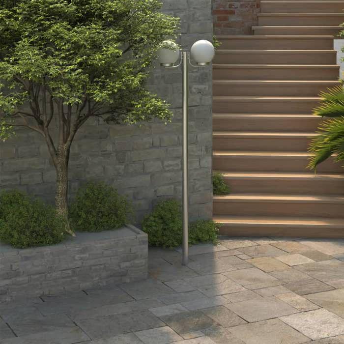 Lampadaire double boule 220 cm achat vente lampadaire Lampadaire exterieur de jardin