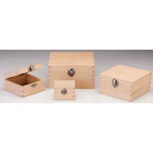 Boite en bois rectangulaire achat vente boite en bois for Boite en bois a decorer pas cher
