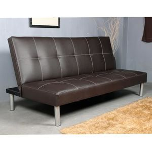 Canap convertible fauteuil sofa banquette lit tro achat for Banquette cuir convertible