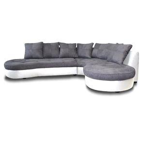 canape d angle bi matiere achat vente canape d angle bi matiere pas cher cdiscount. Black Bedroom Furniture Sets. Home Design Ideas