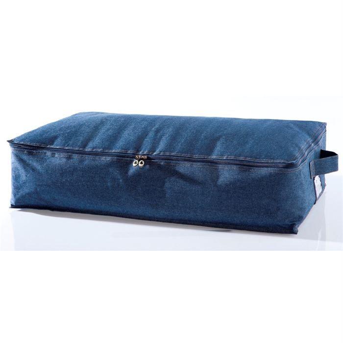 Boite family jeans dessous de lit achat vente petit - Boite de rangement plastique sous lit ...