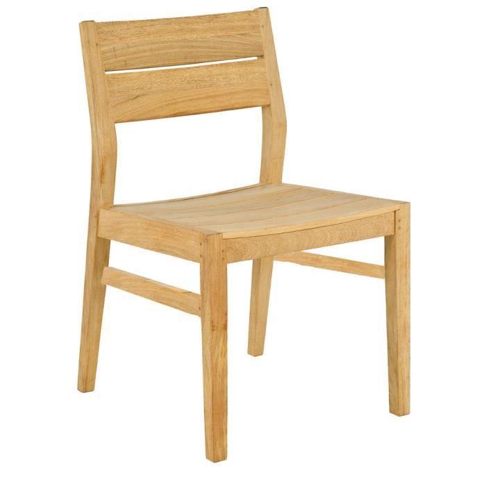 Chaise de jardin tivoli en bois achat vente fauteuil for Chaise de jardin bois