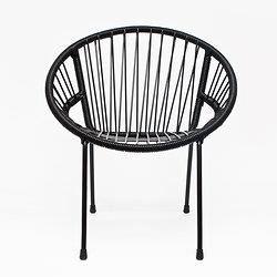 fauteuil en scoubidou tica noir achat vente fauteuil noir cdiscount. Black Bedroom Furniture Sets. Home Design Ideas