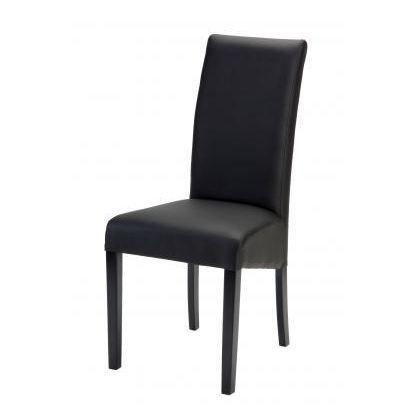 Lot de 2 chaises de salle manger adriana noir achat for Chaise noir salle a manger