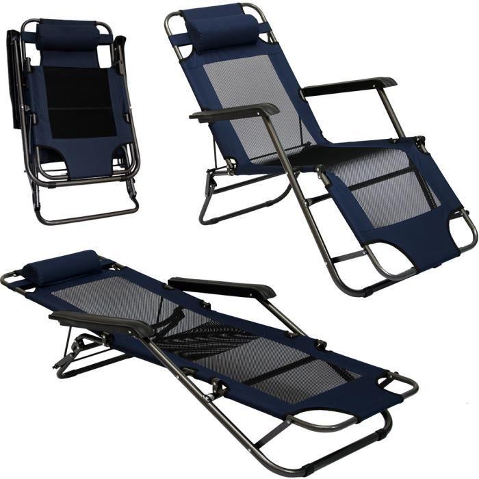 Chaise Longue Pliable Pour Camping Et Jardin Transat