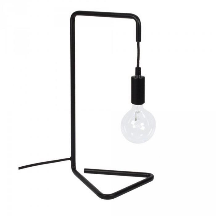 Lampe de bureau noire en m tal comingb noir achat - Lampe de bureau noire ...