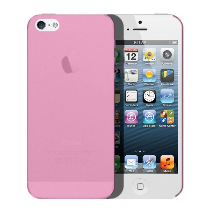 coque iphone 5 opaque color rose achat coque bumper. Black Bedroom Furniture Sets. Home Design Ideas
