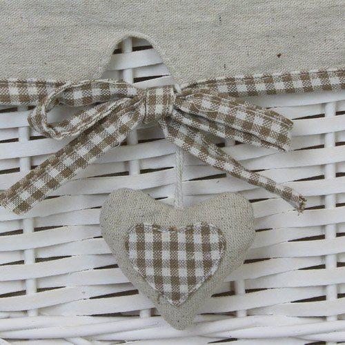 Jvl panier linge rond en osier avec couvercle et doublure en tissu motif curs beige 46 x 46 - Panier en osier avec couvercle ...