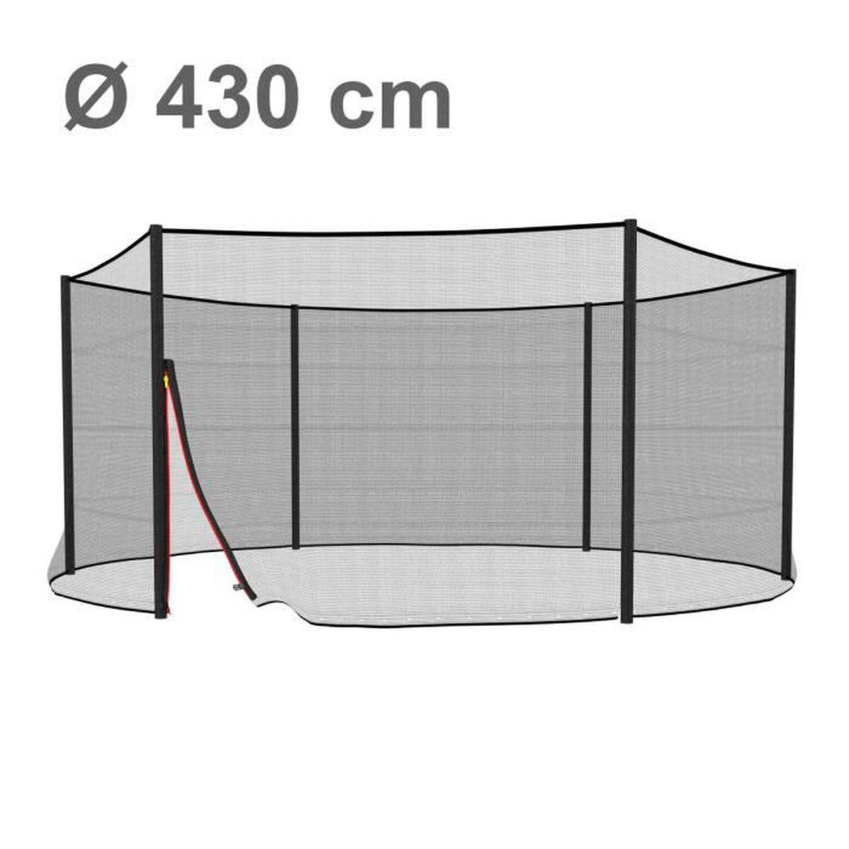ampel 24 filet de s curit pour trampoline 430 cm et 6 piquets piquets non inclus filet. Black Bedroom Furniture Sets. Home Design Ideas