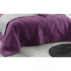 couvre lit boutis prune achat vente couvre lit boutis prune pas cher cdiscount. Black Bedroom Furniture Sets. Home Design Ideas