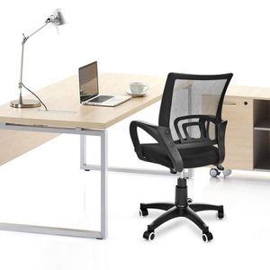 Fauteuil de bureau tissu toile achat vente fauteuil for Chaise d ordinateur