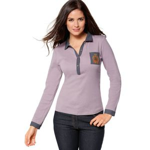 POLO Polo manches longues femme... Gris