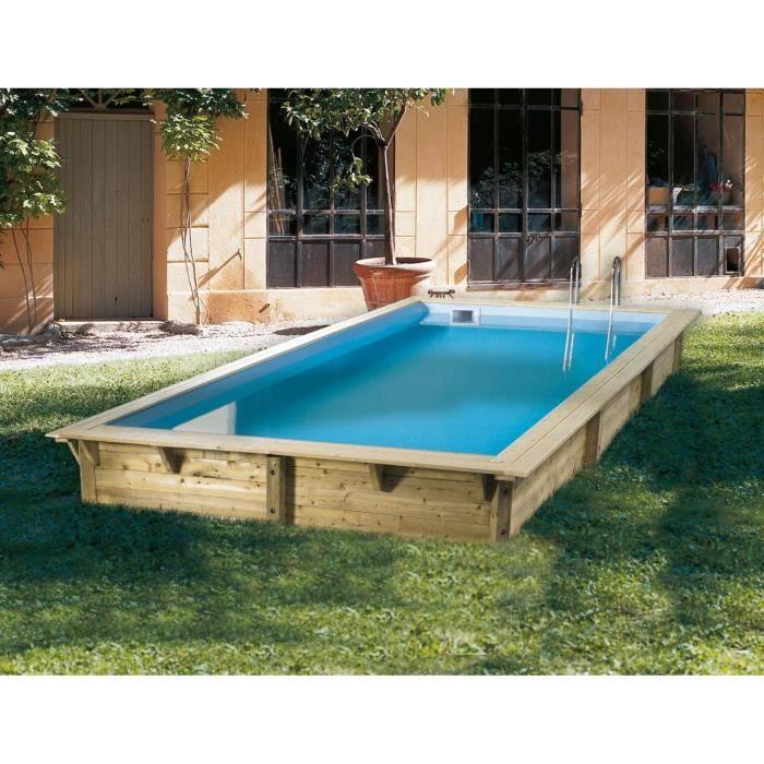 ubbink piscine bois azura beige 350x505x126cm achat. Black Bedroom Furniture Sets. Home Design Ideas