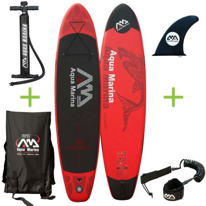 stand up paddle gonflable pack sup monster prix pas cher les soldes sur cdiscount cdiscount. Black Bedroom Furniture Sets. Home Design Ideas