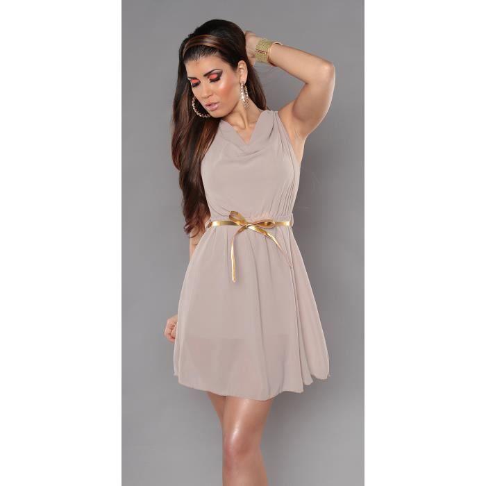 robe chic l gante femme beige beige achat vente t shirt 2009981653548 soldes cdiscount