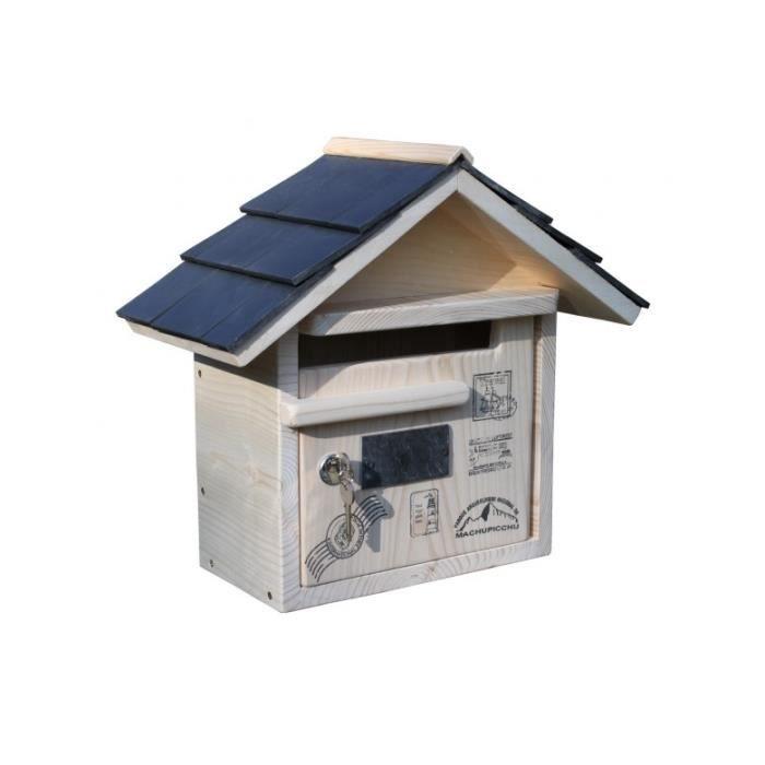 boite aux lettres bois routard prestige courte achat vente boite aux lettres cdiscount. Black Bedroom Furniture Sets. Home Design Ideas