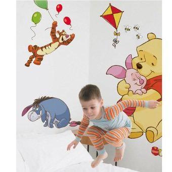 Winnie l 39 ourson maxi stickers murale de 86 cm achat for Decoration murale winnie l ourson