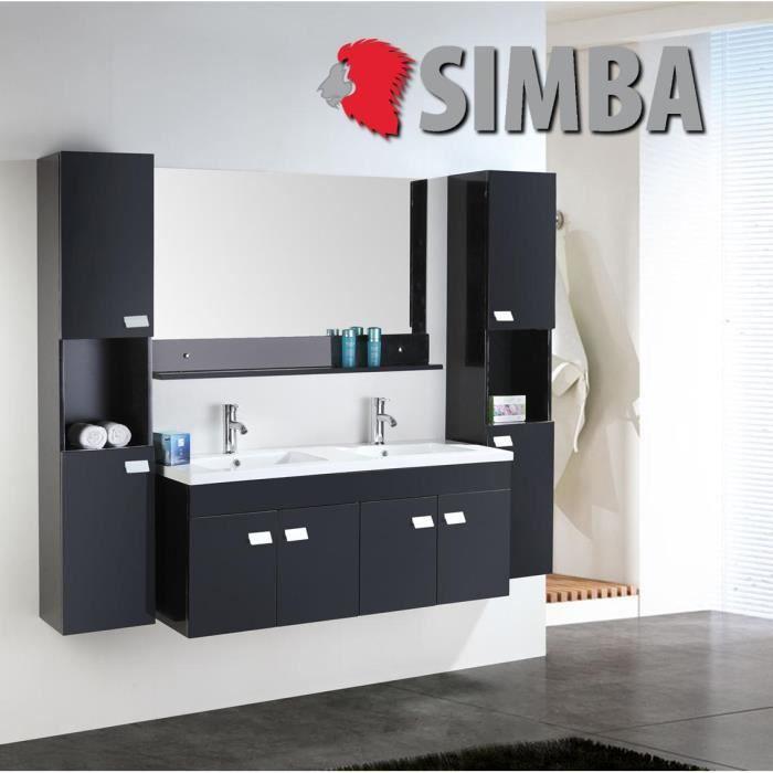 Meuble salle de bain double vasque luxe beau meuble double vasque 120 cm ele - Meuble de salle de bain en 120 double vasque ...