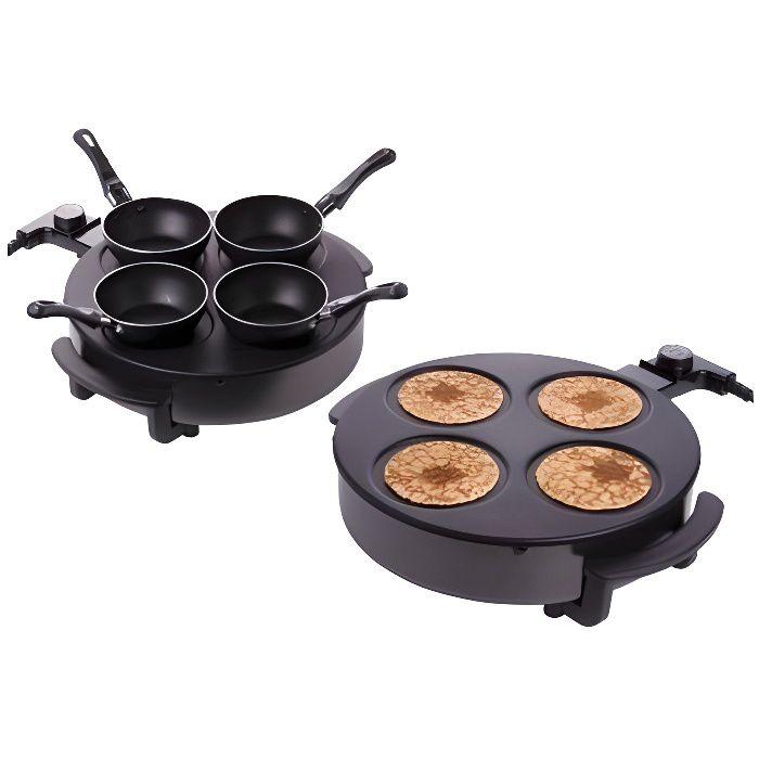 Appareil a cuisson pour wok raclette et crepes achat for Appareil de cuisson professionnel