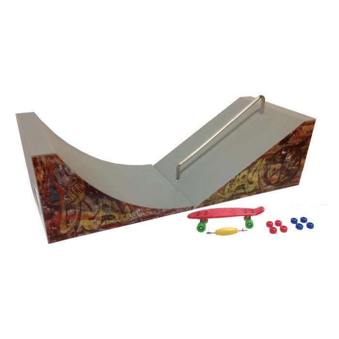 grip tricks rampes de finger skate quaterpipe et slider fingerboard penny board. Black Bedroom Furniture Sets. Home Design Ideas
