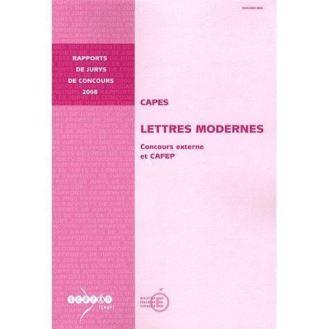 capes lettres modernes achat vente livre jean ehrsam canop 233 cndp parution 01 10 2008 pas