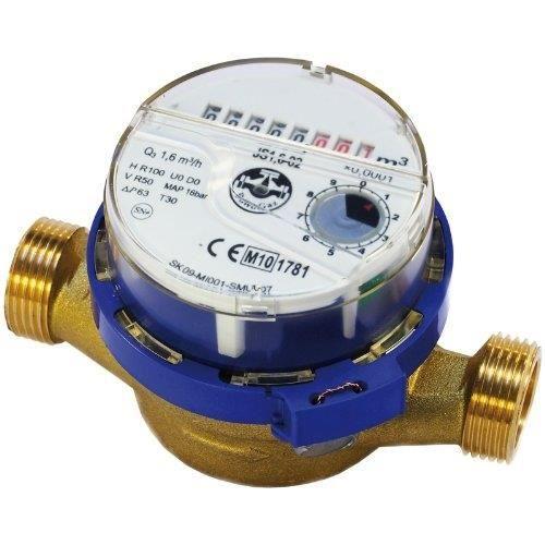 Flux de compteur d'eau froide 1/2 (3/4) 1,6 m3/h Achat / Vente