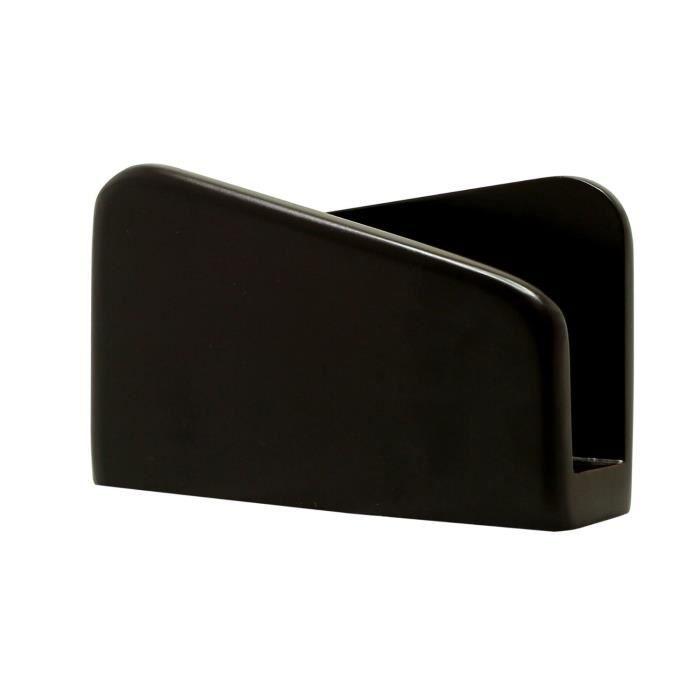 Serviette titulaire 13 7 cm bois noir accessoires for Serviette de table noir